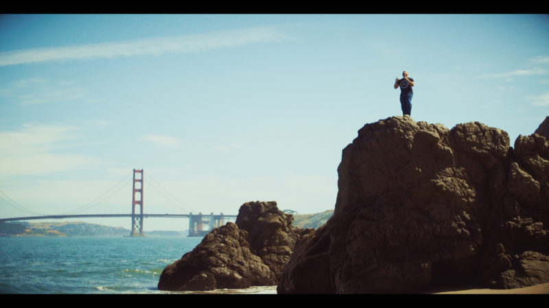 man on cliff