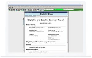 interoperability report on laptop screen