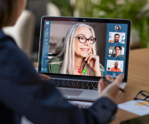 remote workers on video call