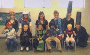 idd providers and kids dressed up in costumes
