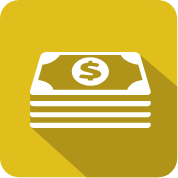 stack of money icon illustration