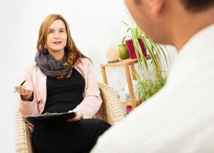 clinician talking