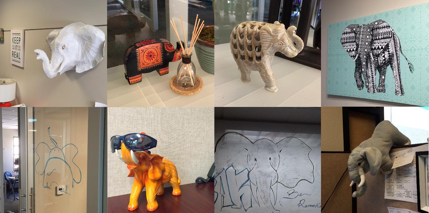 elephant office decor